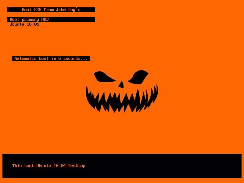 Пример меню Syslinux